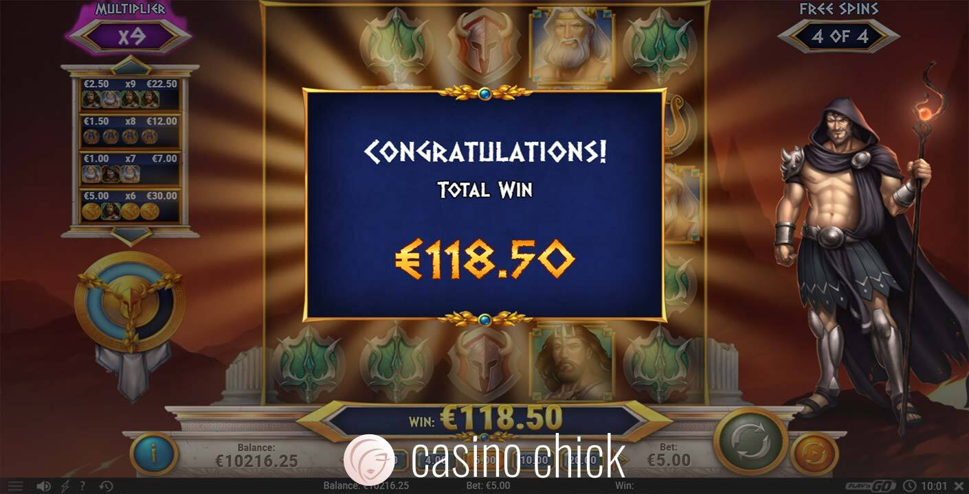 Rise of Olympus Slot Screenshots